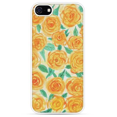Чехол для iPhone Цветочный принт 'Желтые розы'