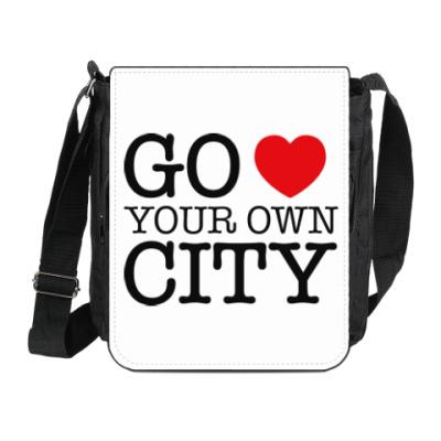 Сумка на плечо (мини-планшет) Love your own city