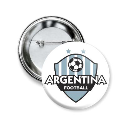 Значок 50мм Футбол Аргентины