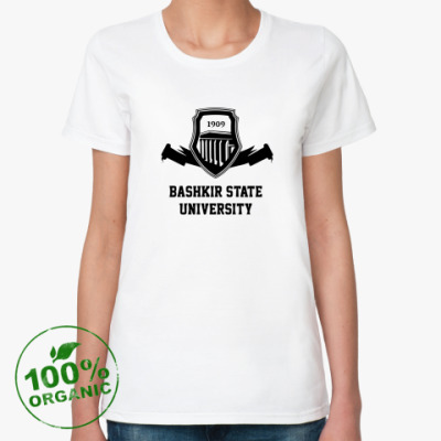 Женская футболка из органик-хлопка БГУ БашГУ