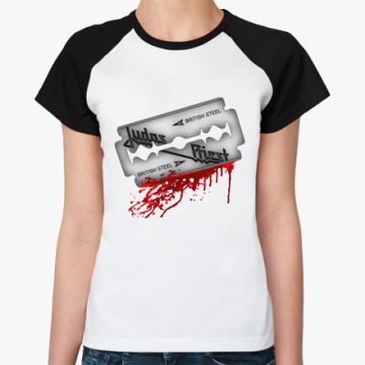 Женская футболка реглан Judas Priest