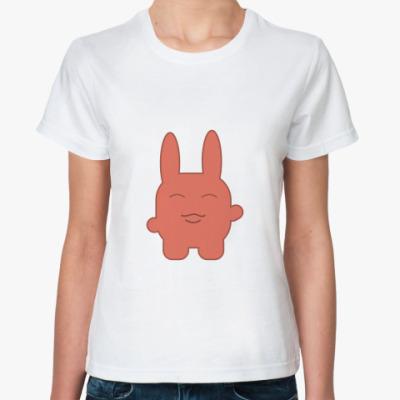 Классическая футболка  Зайка