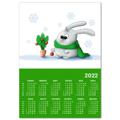Календарь Елка для кролика