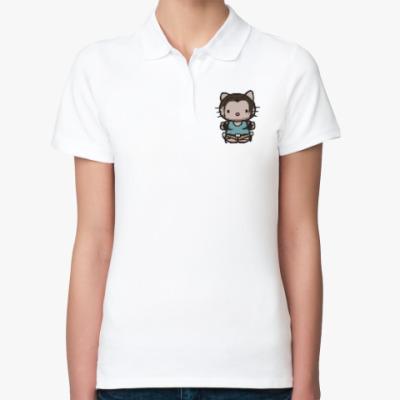 Женская рубашка поло Kitty Лара Крофт