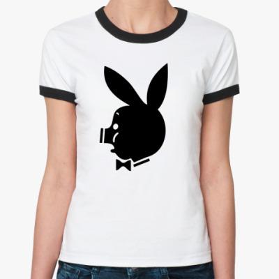 Женская футболка Ringer-T Pigboy