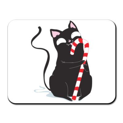 Коврик для мыши Кот и конфета
