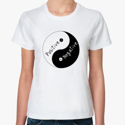 Классическая футболка Positive/Negatve