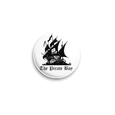Значок 25мм  The Pirate Bay