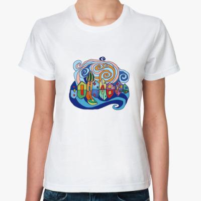 Классическая футболка  А-ля Хундертвассер