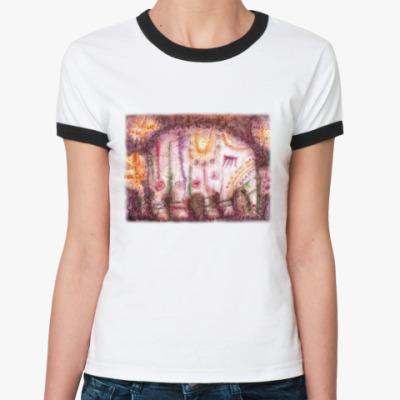 Женская футболка Ringer-T Слоник