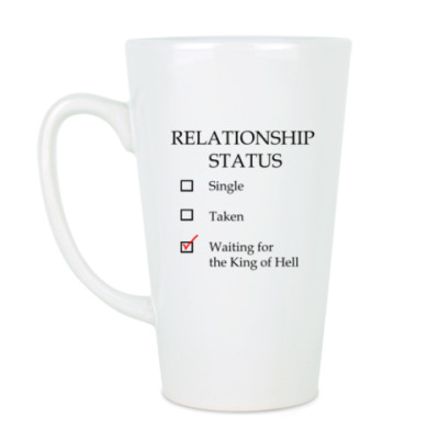 Чашка Латте В ожидании короля Ада