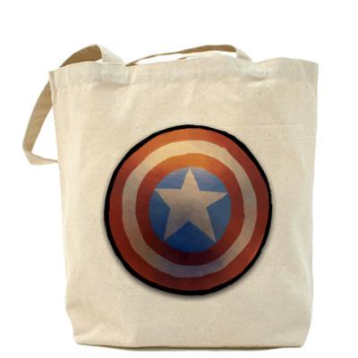 Сумка Холщовая сумка Капитан Америка