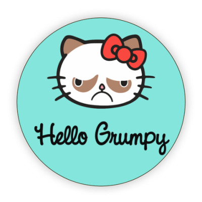Костер (подставка под кружку) Hello Grumpy Cat