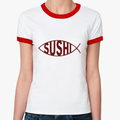 Женская футболка Ringer-T Sushi
