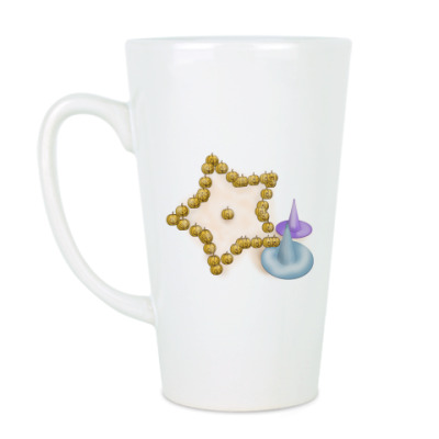 Чашка Латте Хэллоуинская звёздочк