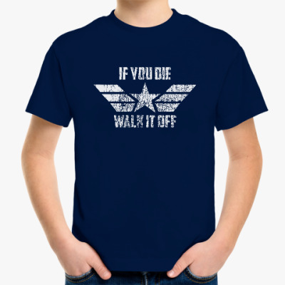Детская футболка Капитан Америка