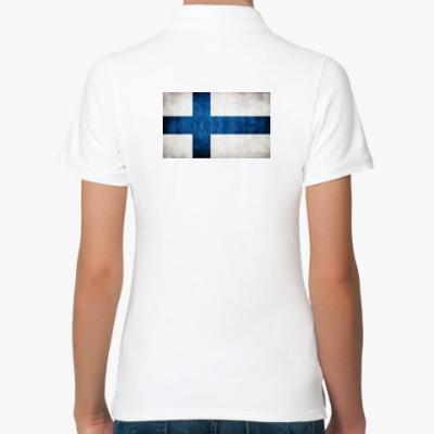 Женская рубашка поло  'Финский флаг'