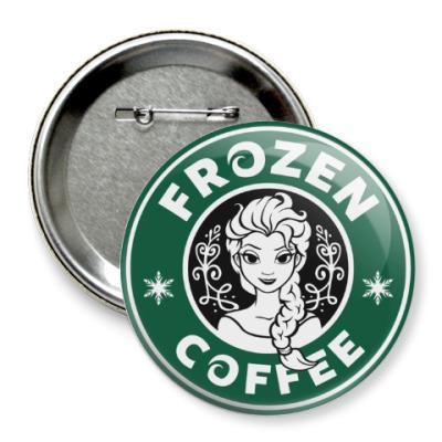 Значок 75мм Frozen coffee