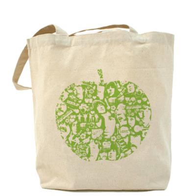 Сумка Beatles Apple Холщовая сумка