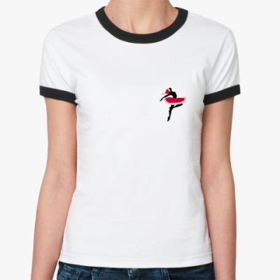 Женская футболка Ringer-T Новогодний балет