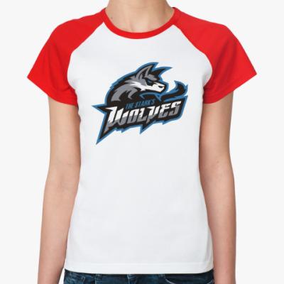 Женская футболка реглан Волки Старков