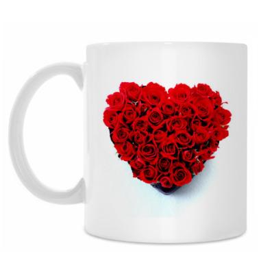 Кружка Сердце из Роз