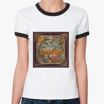 Женская футболка Ringer-T  Pretty Odd