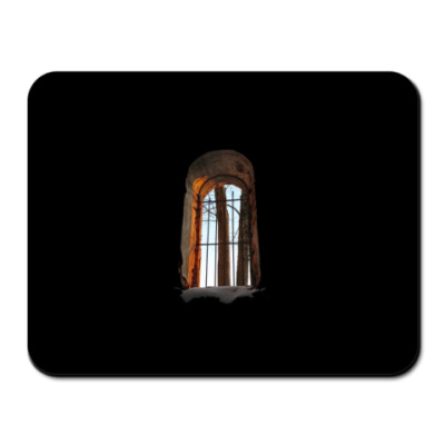 Коврик для мыши Окно разрушенного храма