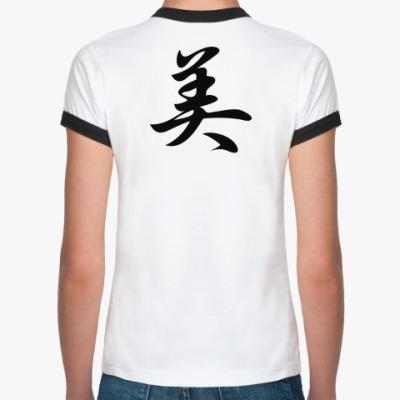 Женская футболка Ringer-T Иероглиф