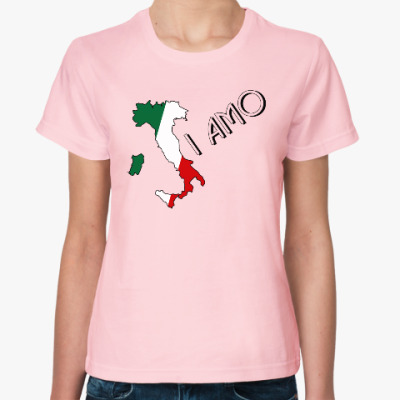 Женская футболка Я люблю тебя по-итальянски