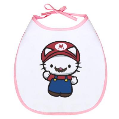 Слюнявчик Китти Марио