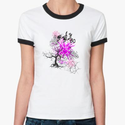 Женская футболка Ringer-T Rock'n roll