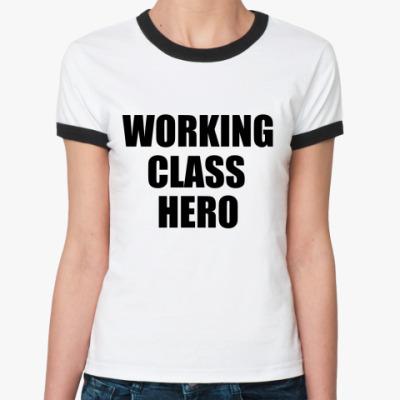 Женская футболка Ringer-T John Lennon -Working