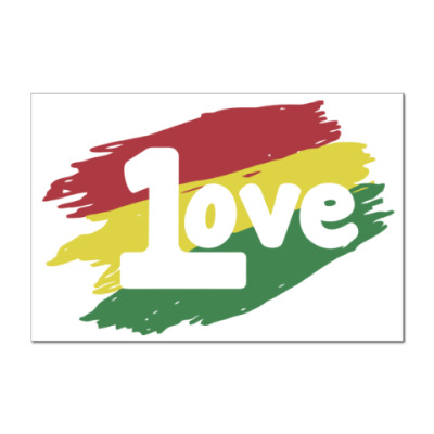 Наклейка (стикер) 1 Love