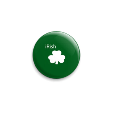 Значок 25мм  'Irish green'