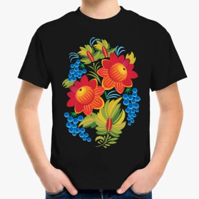 Детская футболка Русская роспись