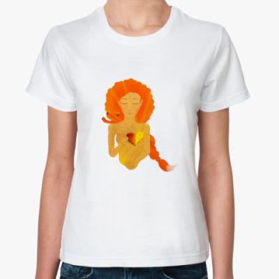 Классическая футболка  Солнечная девушка