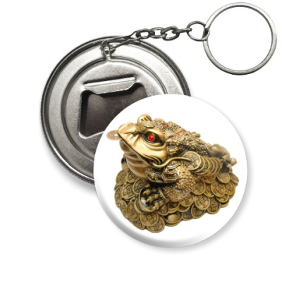 Брелок-открывашка Денежная жаба.