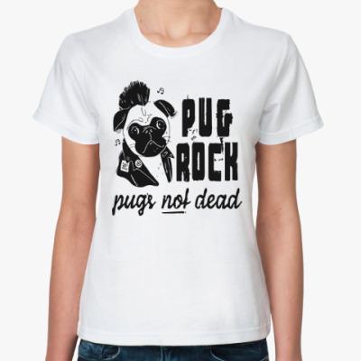 Классическая футболка Pug Rock