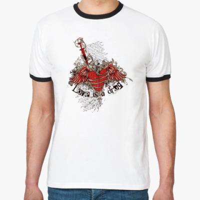 Футболка Ringer-T Love is a drug