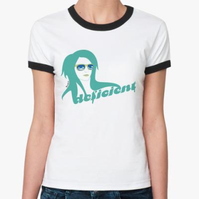 Женская футболка Ringer-T DEFICIENT