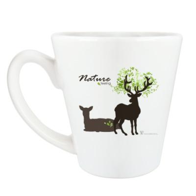 Чашка Латте Олени