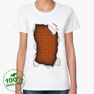 Женская футболка из органик-хлопка 'Стена'