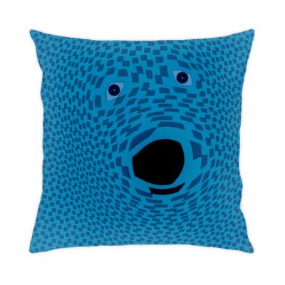 Подушка Голубой щенок