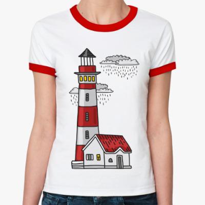 Женская футболка Ringer-T Красный маяк