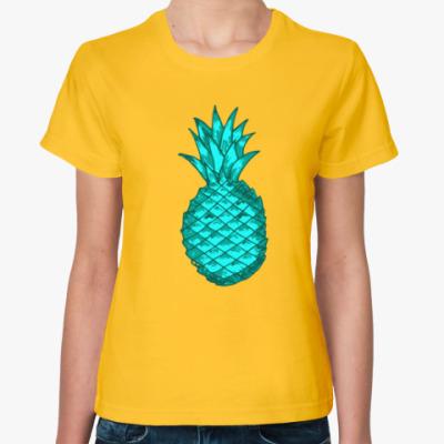 Женская футболка Зеленый ананас