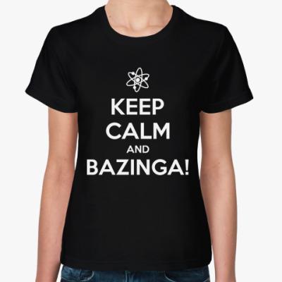 Женская футболка  BAZINGA!