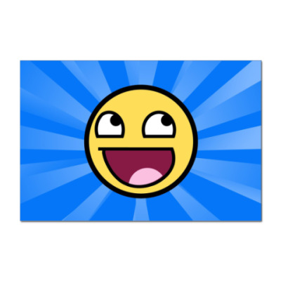 Наклейка (стикер) Awesome Smiley