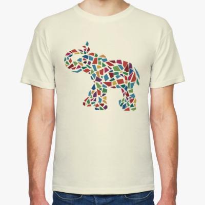 Футболка Цветной слон