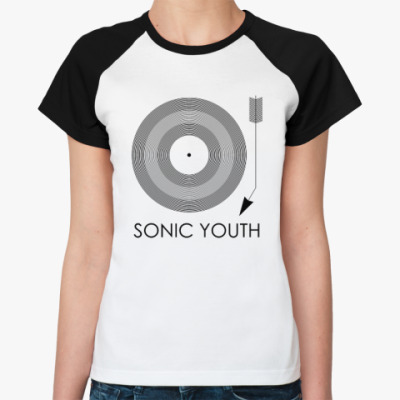 Женская футболка реглан Sonic Youth